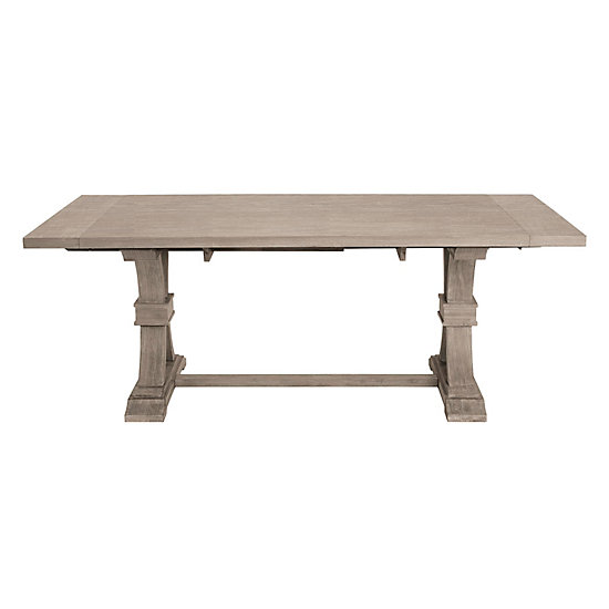 archer natural grey extending dining table in stock collections z gallerie - Grey Extending Dining Table