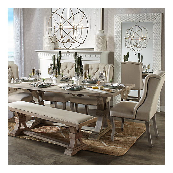 Archer Natural Grey Extending Dining Table All About