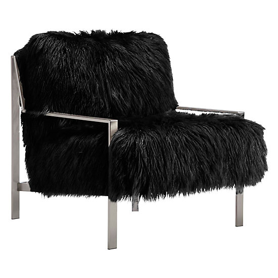 Axel Fur Accent Chair   Brushed Silver | Axel Sequoia Entryway Inspiration  | Entryway | Inspiration | Z Gallerie
