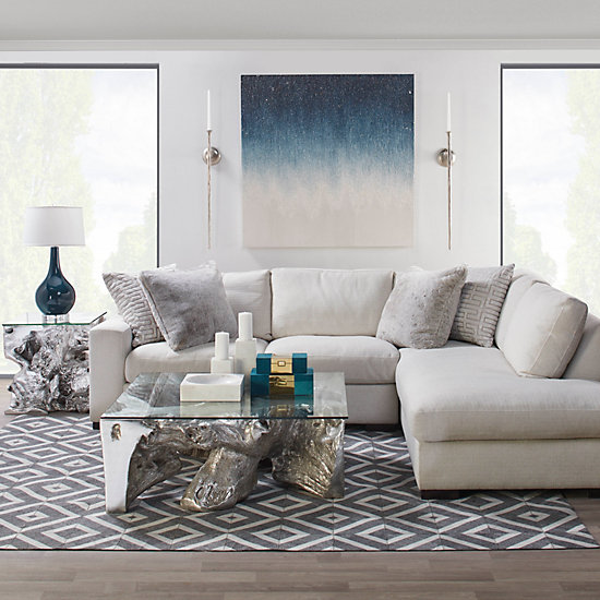 Del Mar Sectional Sofa Chic Sectional Couch Z Gallerie