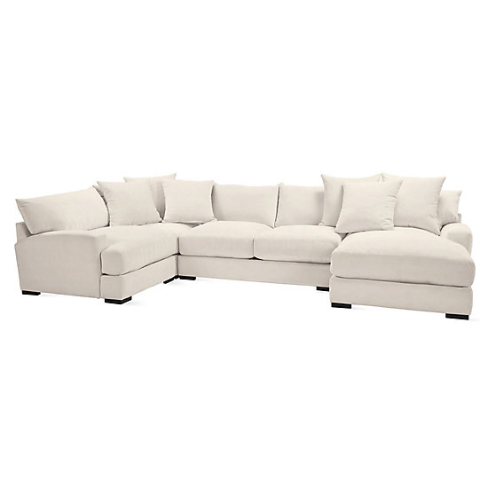Stella Chaise Sectional 4 Pc Micah Living Room Inspiration Z Gallerie