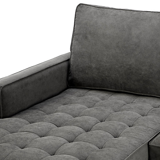 Vapor Chaise Sectional 2 Pc Vapor Leather Living Room
