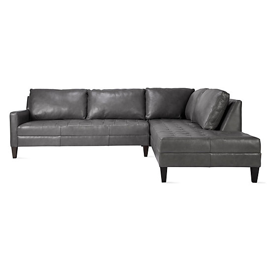 Vapor Leather Daybed Sectional - 2 PC