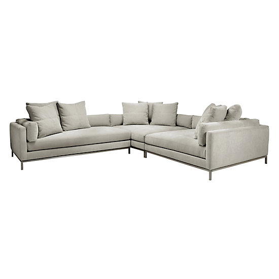 Ventura Sectional Natural Del Mar Living Room Inspiration Z Gallerie