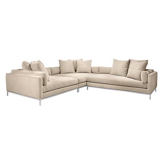 Perfect Ventura Sectional | Natural Del Mar Living Room Inspiration | Living Room |  Inspiration | Z Gallerie
