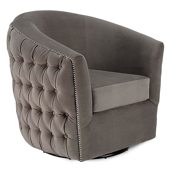 Winslow Swivel Chair | Jameson Glam Bedroom Inspiration | Bedroom |  Inspiration | Z Gallerie