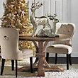 Archer Wash Oak Extending Pedestal Dining Table
