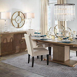 Quinn Modern Metallics Dining Room Inspiration