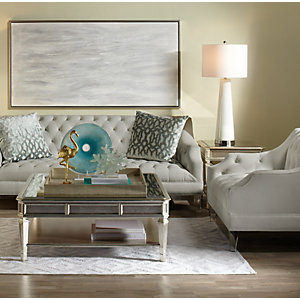 Simone White Living Room Inspiration