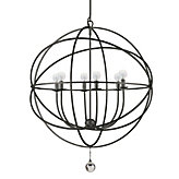 "Six-arm Chandelier 29""D (As Shown)"