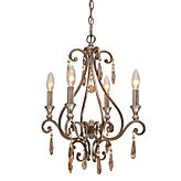 "Four-arm Chandelier 17""W"