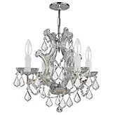 "Four-arm Chandelier 17.5""W (As Shown)"