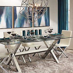 Incroyable Axis Silver Dining Room Inspiration
