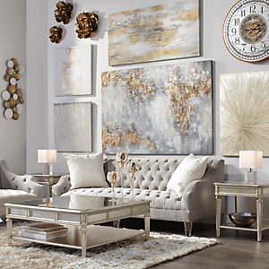 Simone Glittering Art Living Room Inspiration