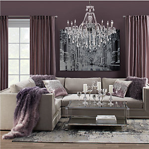 Amethyst Luka Sectional Living Room Inspiration