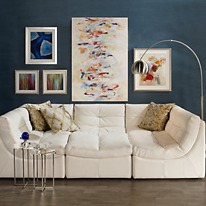 White Cloud Gallery Wall Living Room Inspiration