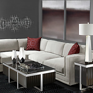 Luka Modern Garnet Living Room Inspiration