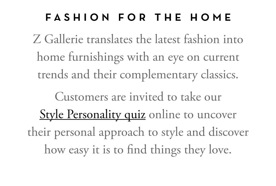 Take Our Style Quiz