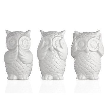 3 Wise Owls 20 Amp Under Gifts Z Gallerie