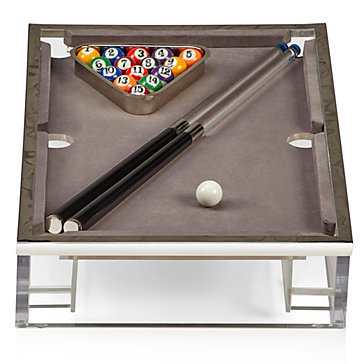 Acrylic Pool Table Games Toys Decor Z Gallerie - Pool table side panels