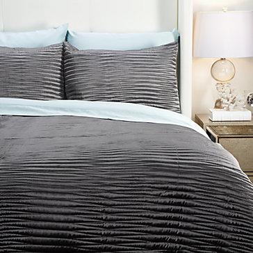 Alta Quilt Bedding Set - Charcoal