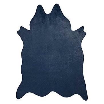 Ayi Faux Cowhide Rug - Sapphire