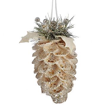 Beaded Pinecone Ornament