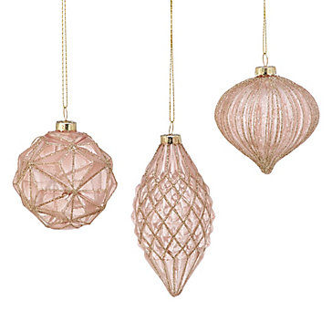 Blush Ornament Set