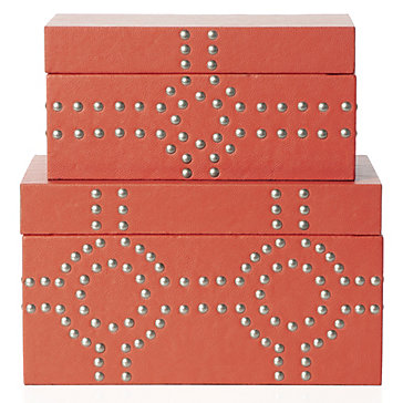 Citrus Colored ZGallerie Bodega Storage Boxes | MLInteriorsGroup.com