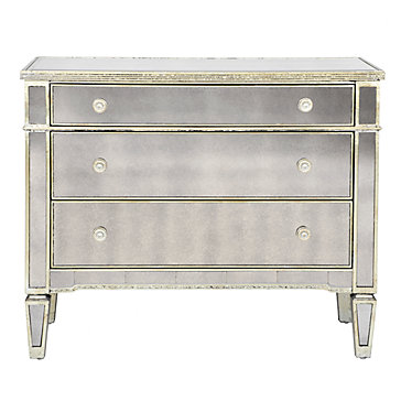 Mirrored dresser borghese 3 drawer dresser z gallerie for Mirror z gallerie