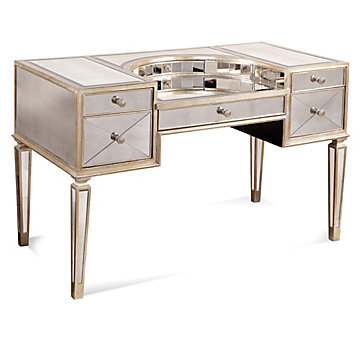 Borghese mirrored vanity desk shine fall winter 2017 for Z gallerie bathroom vanity