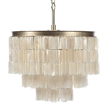 Capiz Chandelier Archer Cirque Dining Room Inspiration Z Gallerie