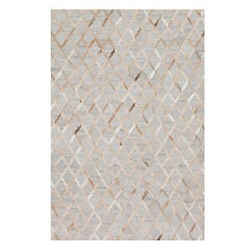 Caswell Hair On Hide Rug - Grey/Sand