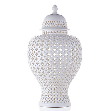 Ceramic Filigree Jar Sophie Cascada Entryway Inspiration