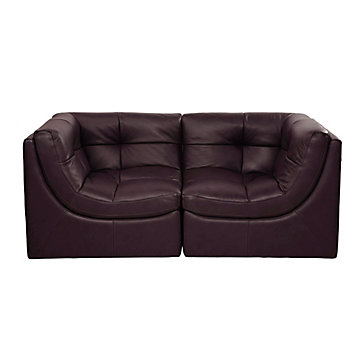 Cloud Love Seat - Brown