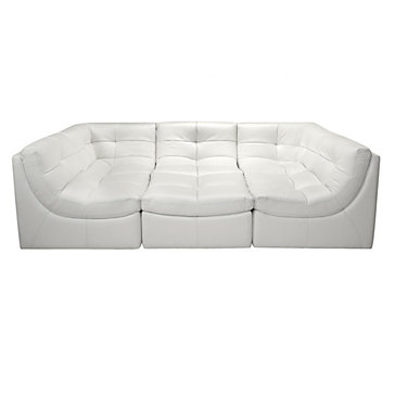 Cloud Modular Sectional - White  sc 1 st  Z Gallerie : black and white sectional - Sectionals, Sofas & Couches