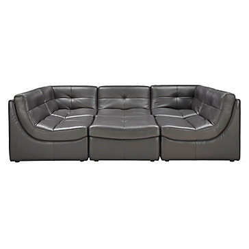 z gallerie furniture quality convo sectional 6pc charcoal collection furniture