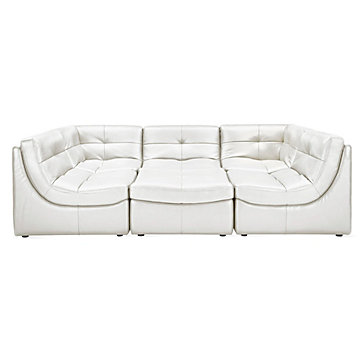 Convo Sectional 6PC - White