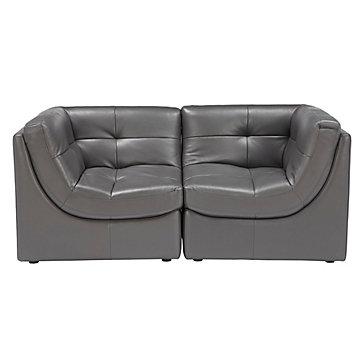 Convo Sofa  2PC - Charcoal