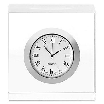 Crystal Cube Table Clock