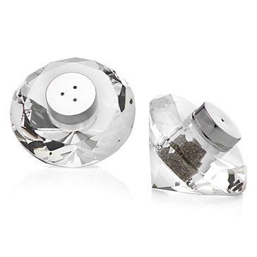 Diamond Crystal Salt And Pepper Shakers