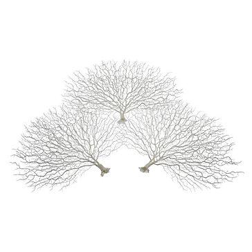 Faux Coral Fan - Set of 3