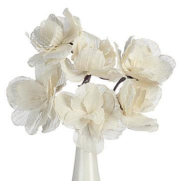Faux Linen Classic Flower - Set of 3