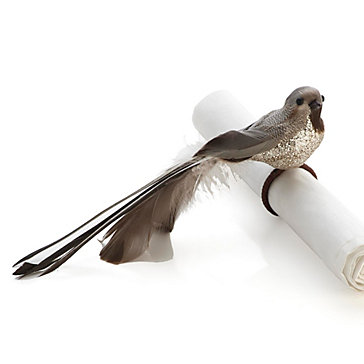Feather Bird Napkin Ring - Set of 4
