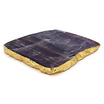 Fluorite Geode Serve Platter