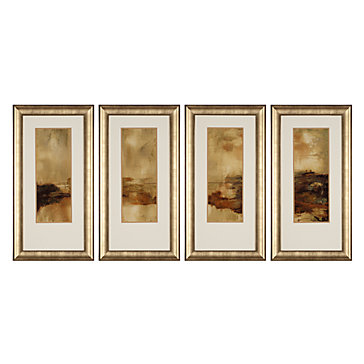 Gold Landscape - Set Of 4
