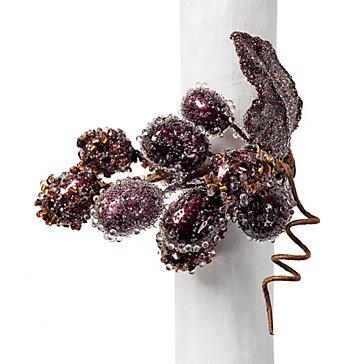 Grape Napkin Ring - Set of 4