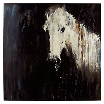 Horse In The Rain Canvas Art By Type Art Z Gallerie
