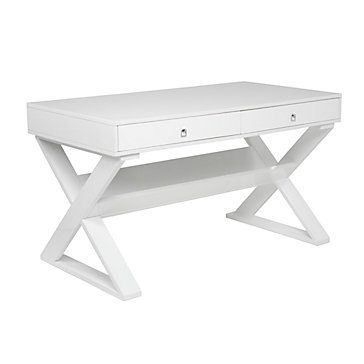 White Lacquered Furniture To Jett Desk White Lacquer Gallerie