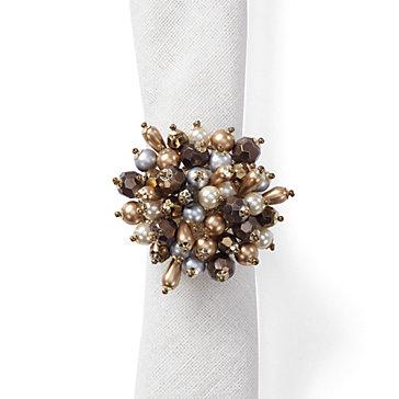 Jewel Cluster Napkin Ring - Set of 4